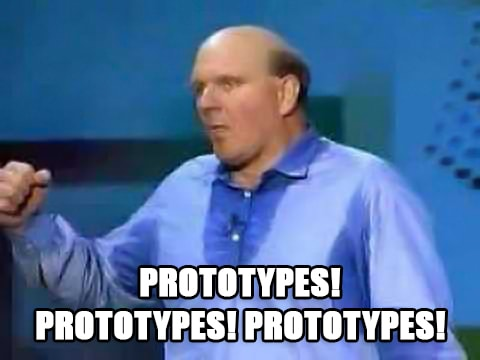 "Meme of Steve Ballmer yelling ""Developers! Developers! Developers!""."